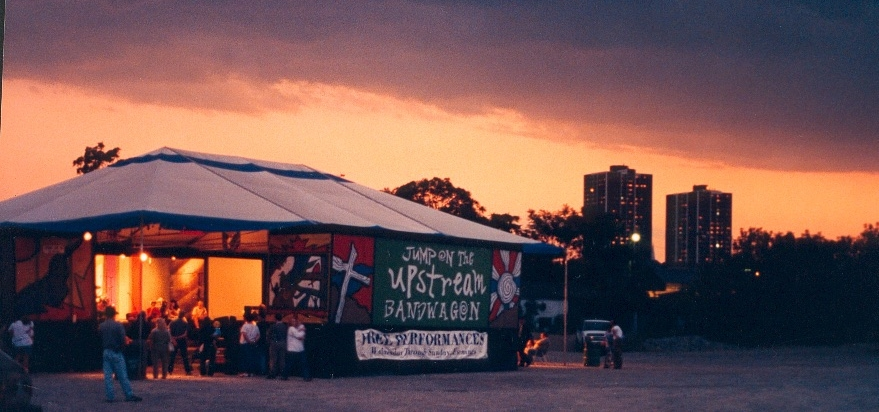 Our mobile theatre on our cross-Canada adventure in the 90's