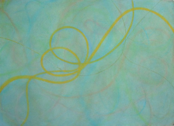 Yellow Runs Through , 29 x 41 inches, Pastel on Paper, 2007