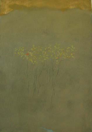 Orange Leaf,  pastel on paper, 39x27 inches, 2004