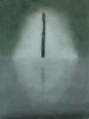 Reflection , pastel on paper, 27x39 inches, 2002