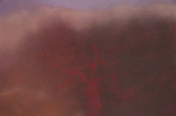 Red Tree , pastel on paper, 48x31 inches, 2003/4
