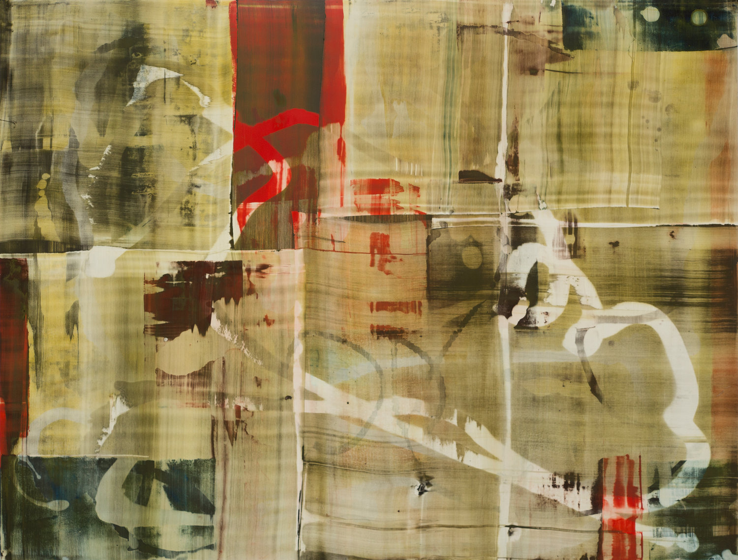 """Pentimento #3, 20"""" x 26"""" oil on paper"""