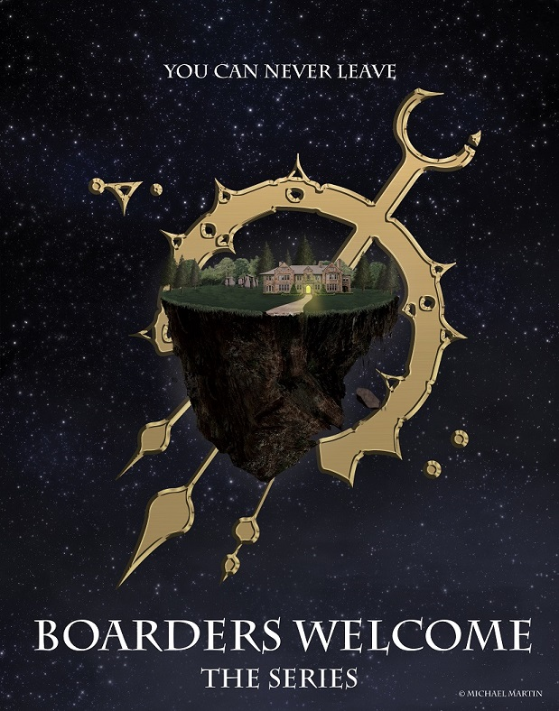 Boarders Welcome - Boarders Welcome is an hour-long science fiction series that follows a group of people trapped at an ocean-side inn. Imagine Lost meets Shirley Jackson's The Haunting of Hill House. Nathan Hart is searching for his missing ex-wife. Her trail leads to a remote seaside inn. Nathan decides to stay the night and is introduced to an eclectic mix of hotel guests over dinner. What at first appears to be an earthquake rattles the inn. Soon, the guests discover that the rest of the world outside of the inn has disappeared. Even the sun is gone. Only a fluctuating mile round circle of ground/land remains, the edges falling off into a sea of black nothingness. Creatures lurk in the woods behind the inn and the upper floors harbor evil spirits. Nathan and the other guests must now try to survive in this strange new world and find a way home.Request a copy of the first three episodes.