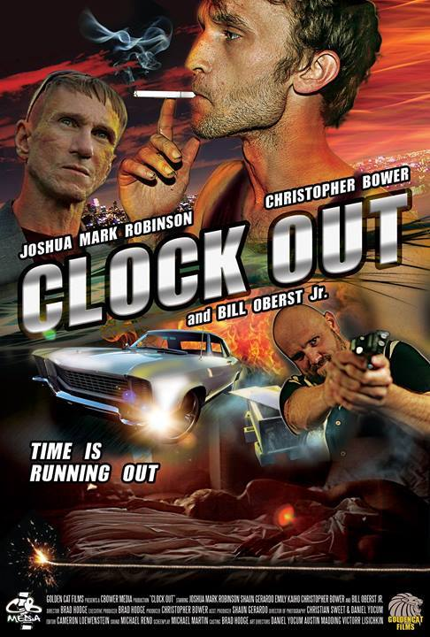 Clock Out - A spec script purchased by Golden Cat Films, Clock Out is a thriller about Toby, a down-and-out victim of AIDS and his own bad decisions. Currently released by Industry Works.