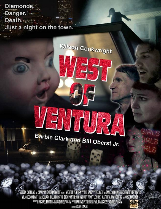 West of Ventura - West of Ventura is a thriller I wrote about several competing groups of criminals trying to track down a lost package of rare uncut diamonds. This has been released on Amazon Prime Video.