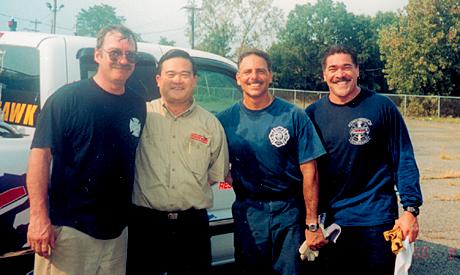 "Bill Hickerson, Gary Wan, Dennis Amodio, and Dennis Mojica at Curtiss-Wrights""s Power Hawk Training seminar"