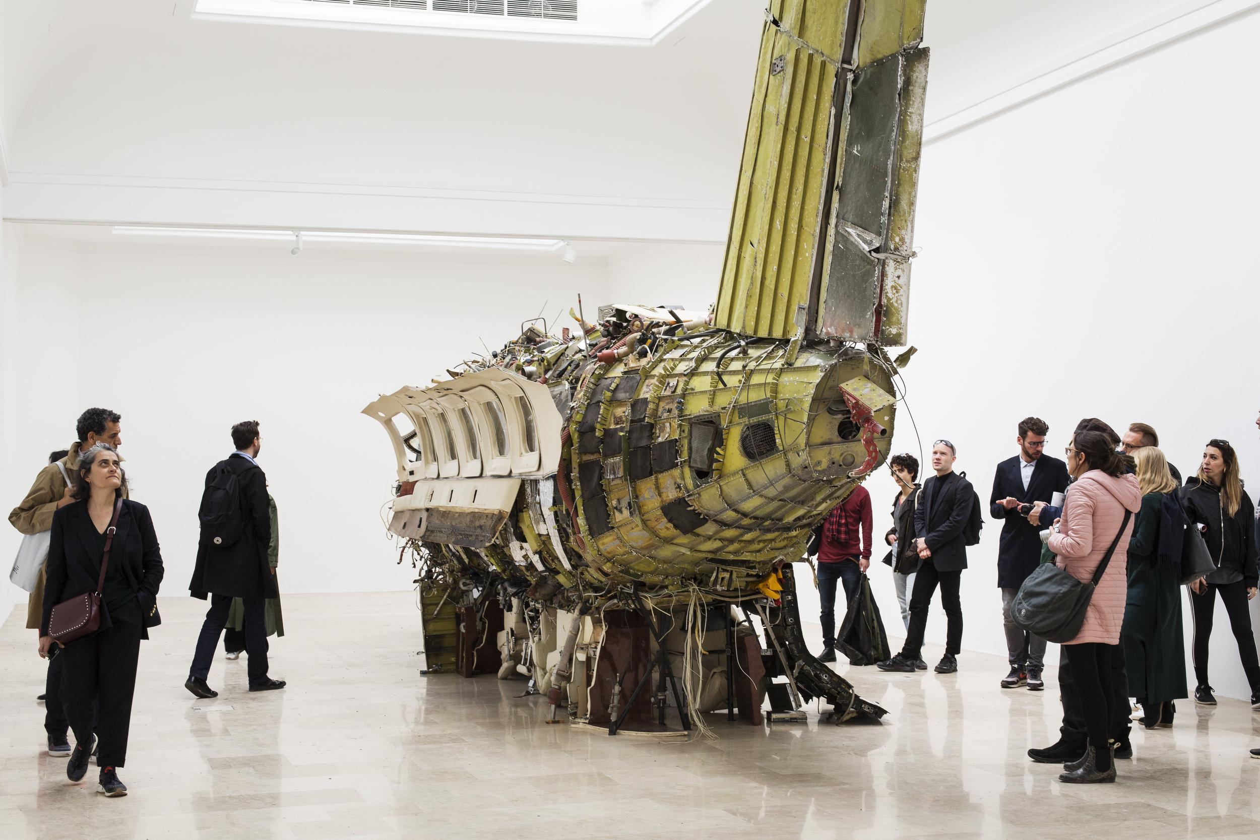 Flight  (2019) by Roman Stańczak. Installation view. Photo by Francesco Galli. Photo by Francesco Galli. Courtesy the artist, La Biennale di Venezia.