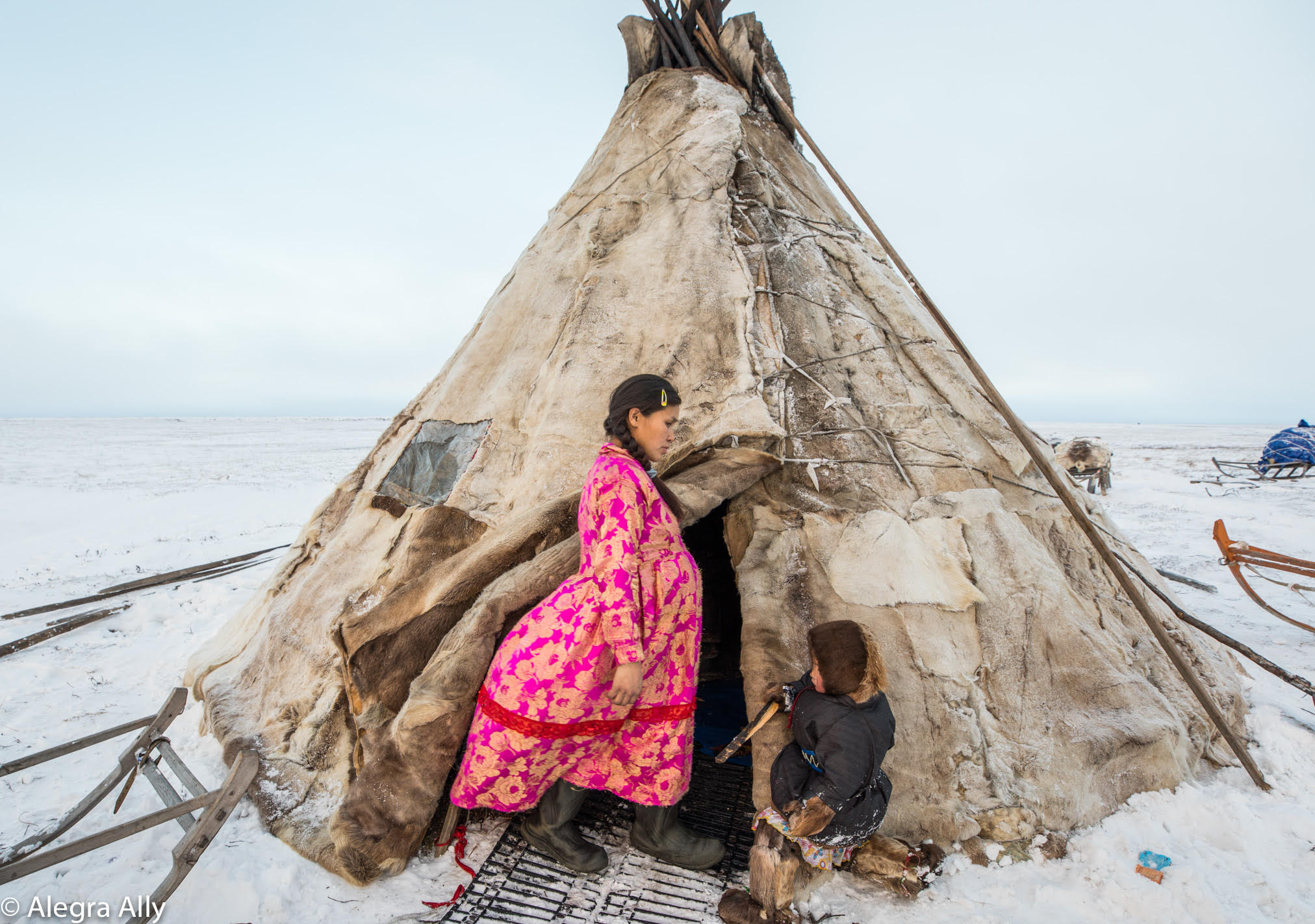 "Photo:  Alegra Ally ,  Wild Born Project . From "" Women at the End of the Land "" expedition to the Yamal Peninsula."
