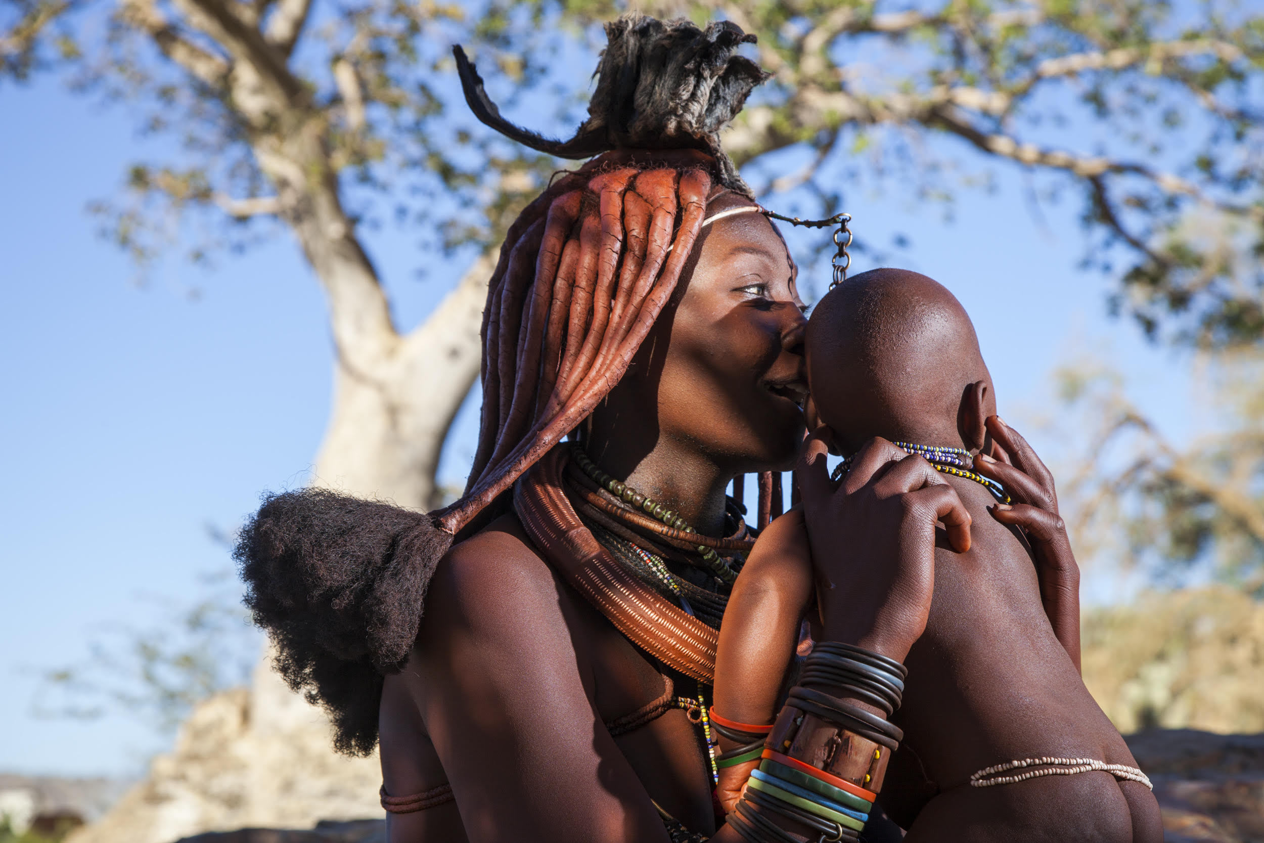 "Photo:  Alegra Ally ,  Wild Born Project . From "" Walking with the Himba "" expedition to Namibia."