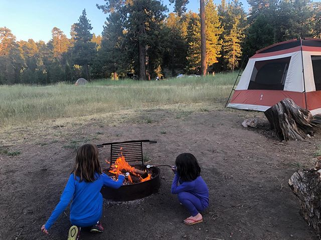 I had an epiphany on our camping trip this weekend: I've been doing car camping all wrong. ⁣ ⁣ I've been trying to muscle through our trips with a streamlined setup of backpacking gear instead of embracing the realm of possibility—and the space in our trunk—to make the experience as comfortable as possible for my family (so that ultimately, we can spend more time in the outdoors). Kids can sleep through anything—including the requisite tummy full of marshmallows, as shown—but my hubby and I are still feeling the aftermath of a night tossing and turning on our closed-cell foam sleeping pads.⁣ 🏕😂 Despite my wilderness longings, I didn't grow up camping, so admittedly the learning curve has been steep for me. ⁣ ⁣ I have a feeling some of my research on how to sleep more comfortably in the outdoors will emerge in Season 3 of the show, but in the meantime, suggestions are welcome! 🙏⁣⁣ ⁣⁣ ⁣⁣ ⁣⁣ ⁣⁣ ⁣⁣ #camping #carcamping #familycamping #familycampingtrip #learnbydoing #uncivilize