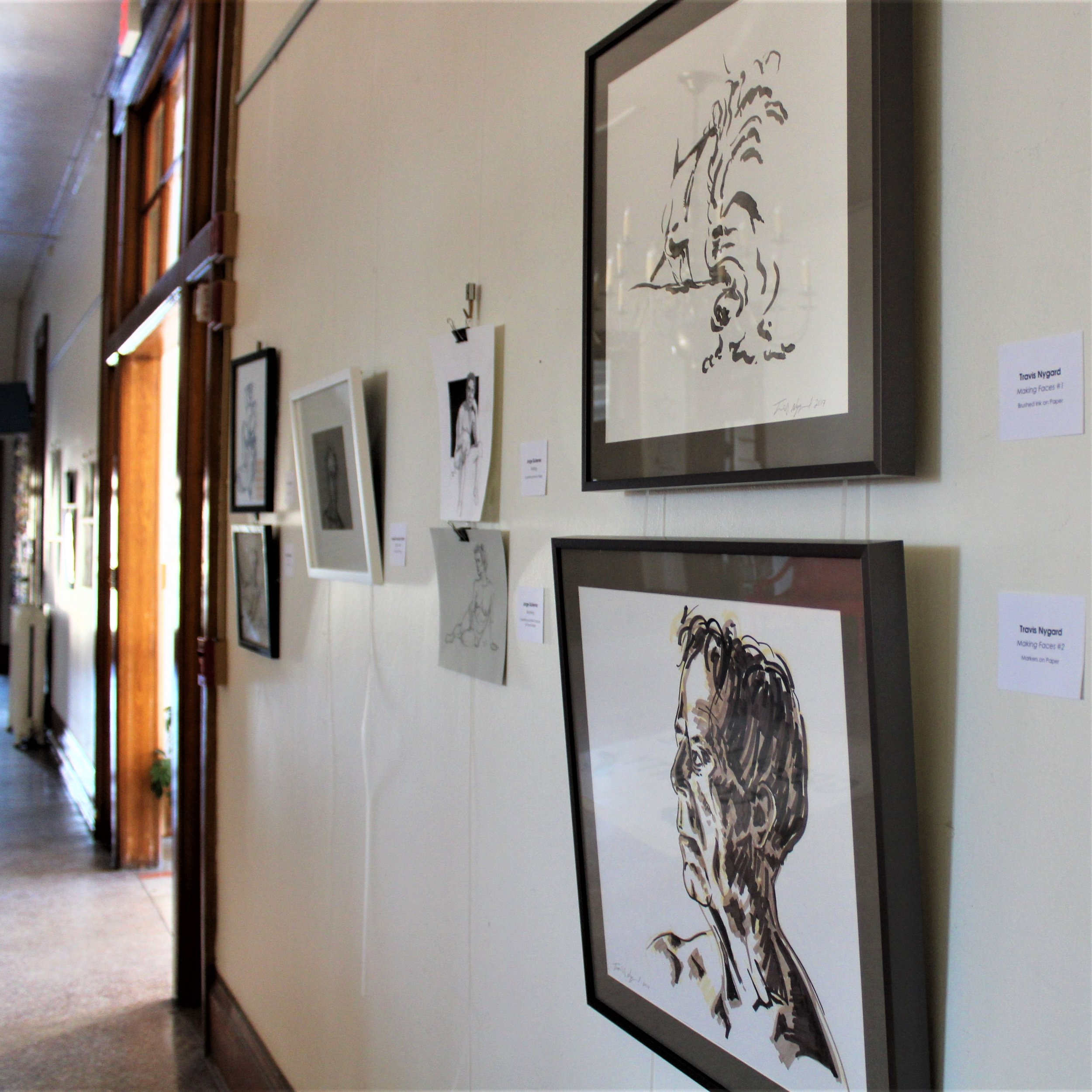 Now through the end of March, The Lobby Gallery at Town Square will feature artwork  by students of the figure drawing sessions held at Town Square.