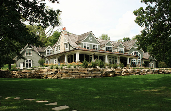 The Pregonts'new home, which was featured in the June 2017 edition of House Beautiful, sits on acreage that forms a well-known promontory reaching into Green Lake and dividing the cliffs of Sugarloaf and the popular Norwegian Bay.