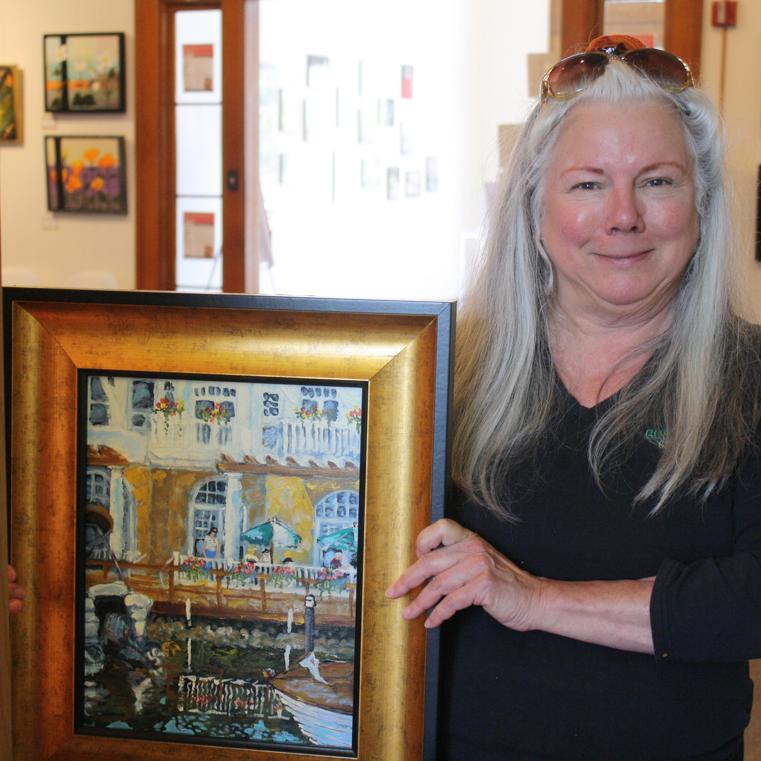 Becky Andersen is a Town Square resident artist and operates a studio in the basement of the community center.