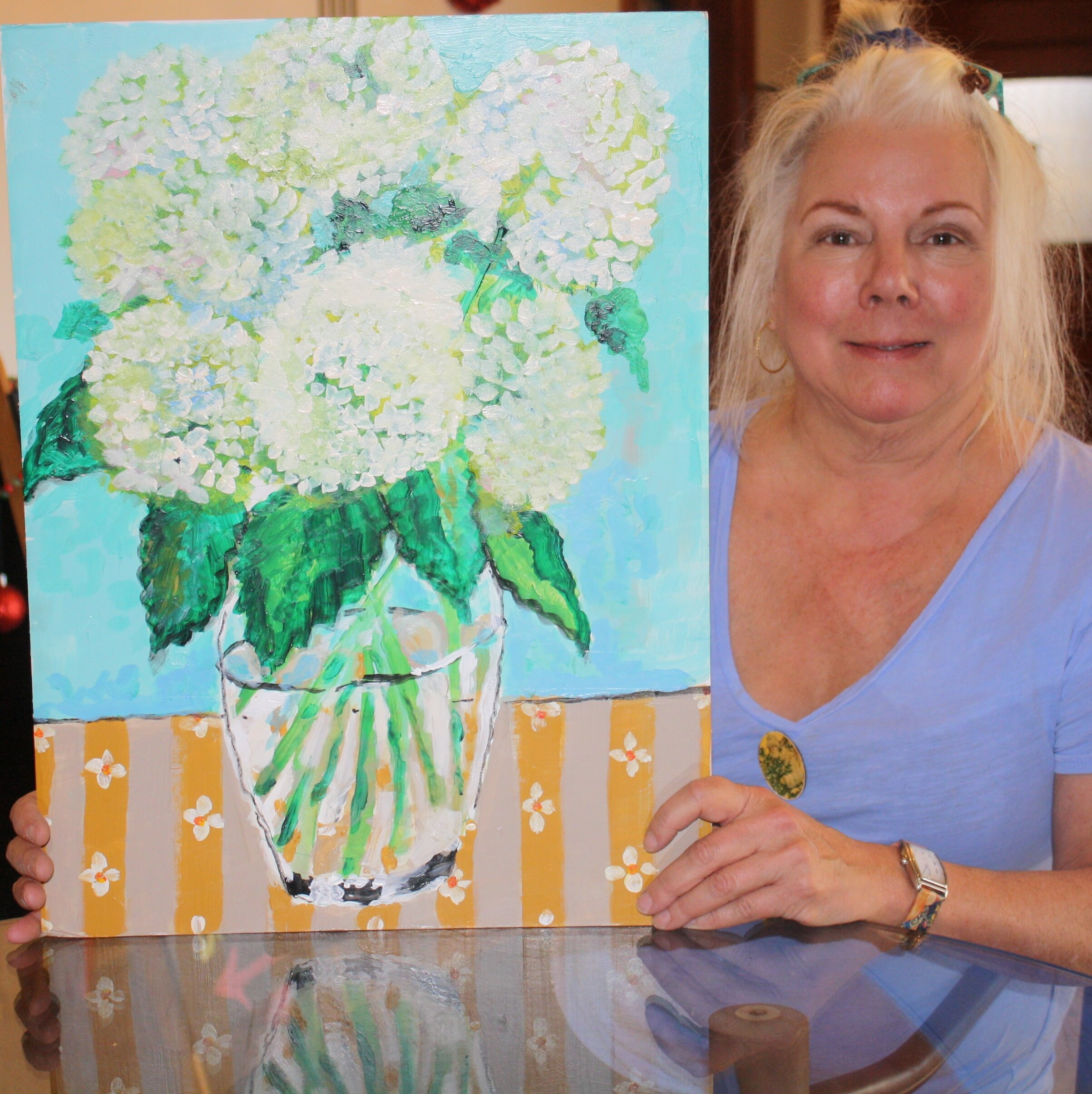 Local area artist Rebecca Andersen, uses various techniques and paints in creating magnificent masterpieces. With an emphasis on acrylic and watercolor painting, Andersen brings life and vibrancy to any focal point.