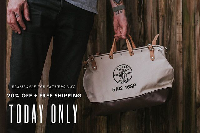 "Alright some of you saw this coming in my stories but for today only - May 16th - Klein tools has given me a coupon code for 20% off and free shipping on their Signature Series bags! ⁣⁣ ⁣⁣ They are super high quality, super slick and for today only are on super sale! They can be customized with your name or company to make them extra special to give as a gift. Say Father's Day? 🤔😂 ⁣⁣ ⁣⁣ Visit CustomKleinTools.com to shop and use code ""Rowan"" at checkout! Link in bio also 👍🏼⁣ ⁣ 📸 : @storylinecollective"