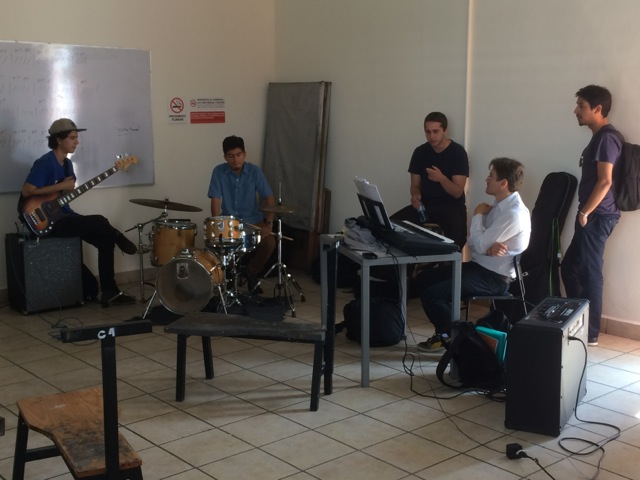 Teaching an ensemble in Guadalajara