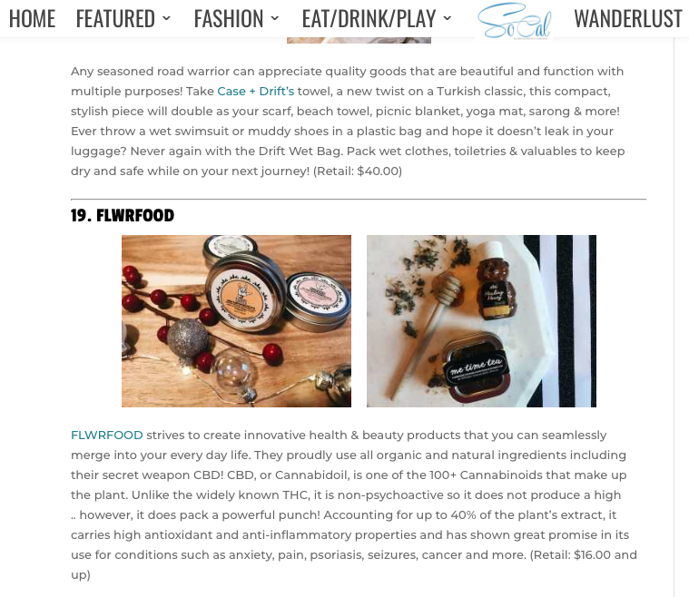 www.socalmag.com  20 Great products for christmas shopping