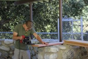 Measure twice, cut once :) - Dan putting his skills to work