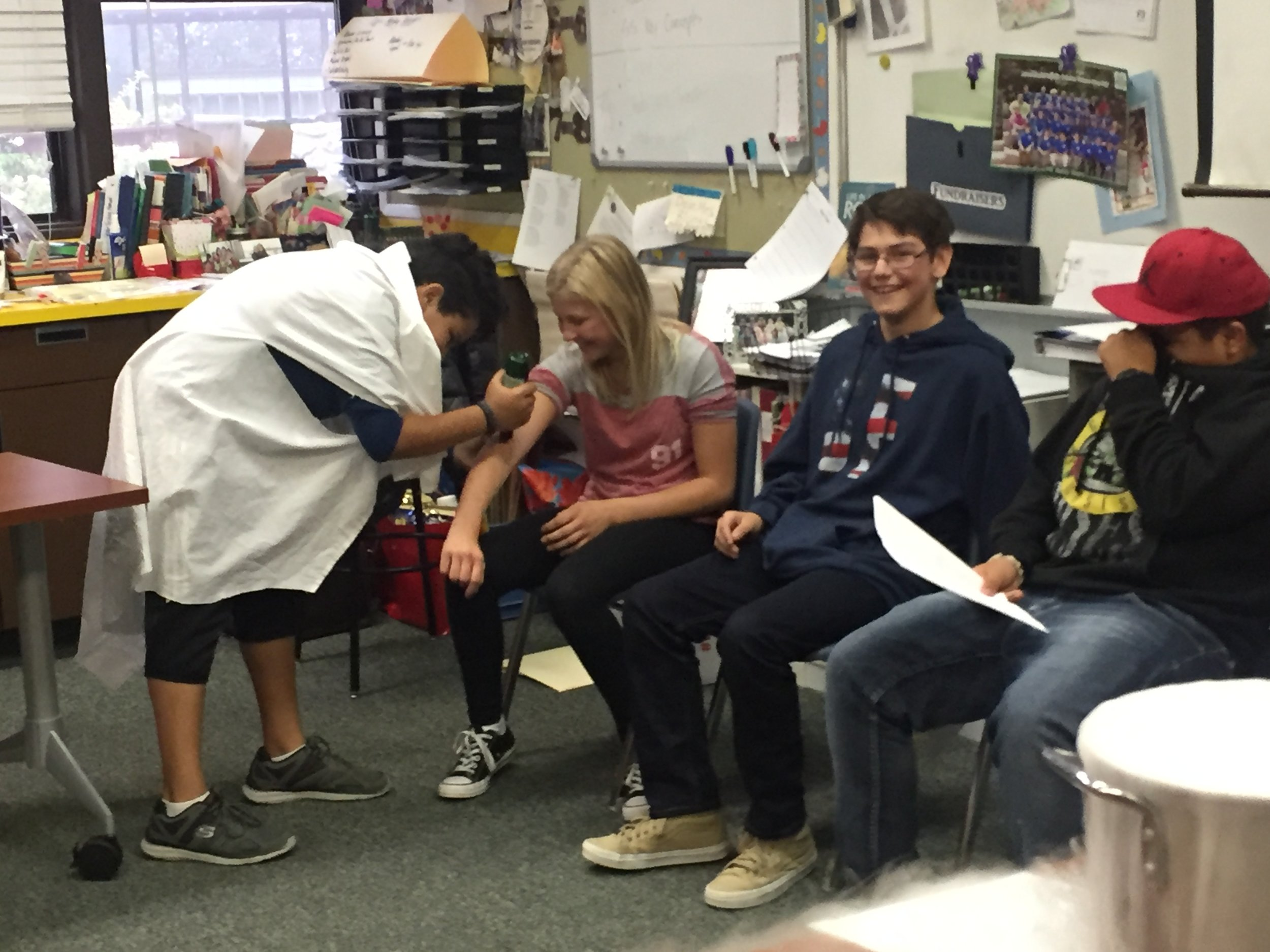 Our 7/8 students teaching their colleagues about Medieval medical practices...thank goodness for modern medicine!