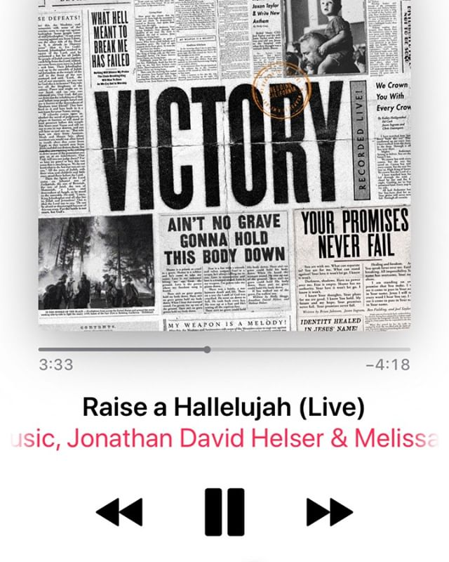 "We cannot wait to sing a ""Hallelujah"" together in the middle of whatever you may be going through. Jesus is worthy of lifting our praise. Let's be ready to sing this song from Bethel Worship together on Sunday at 9:15 and 11:15 AM. See you there!"