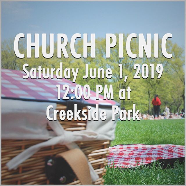 We cannot wait to share a meal together tomorrow at 12 Noon at Creekside Park. Bring your family and a chair and join us for hot dogs and a good time!