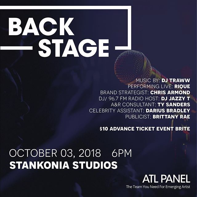 We're excited to announce our CEO @iamdbradley will be speaking on his first panel October 3rd at Stankonia Studios! He will be sharing his 7 years of experience working in the music industry on how an artist can level up. To RSVP link in Bio 🔐  #music #musician #musicproducer #hiphop #independentartist #artist #newmusic #musiclife #producer #rap #rappers #recordlabel #itunes #singer  #studio #instamusic #entrepreneur #unsignedartist #trap #soundcloud #songwriter #rapper #spotify #rapmusic #dj #musicproduction #blog #BackstagePanel #TeamYouNeedForEmergingArtist #AtlantaEvents