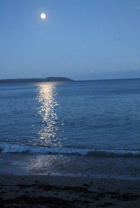 Full Moon over Cornish Sea