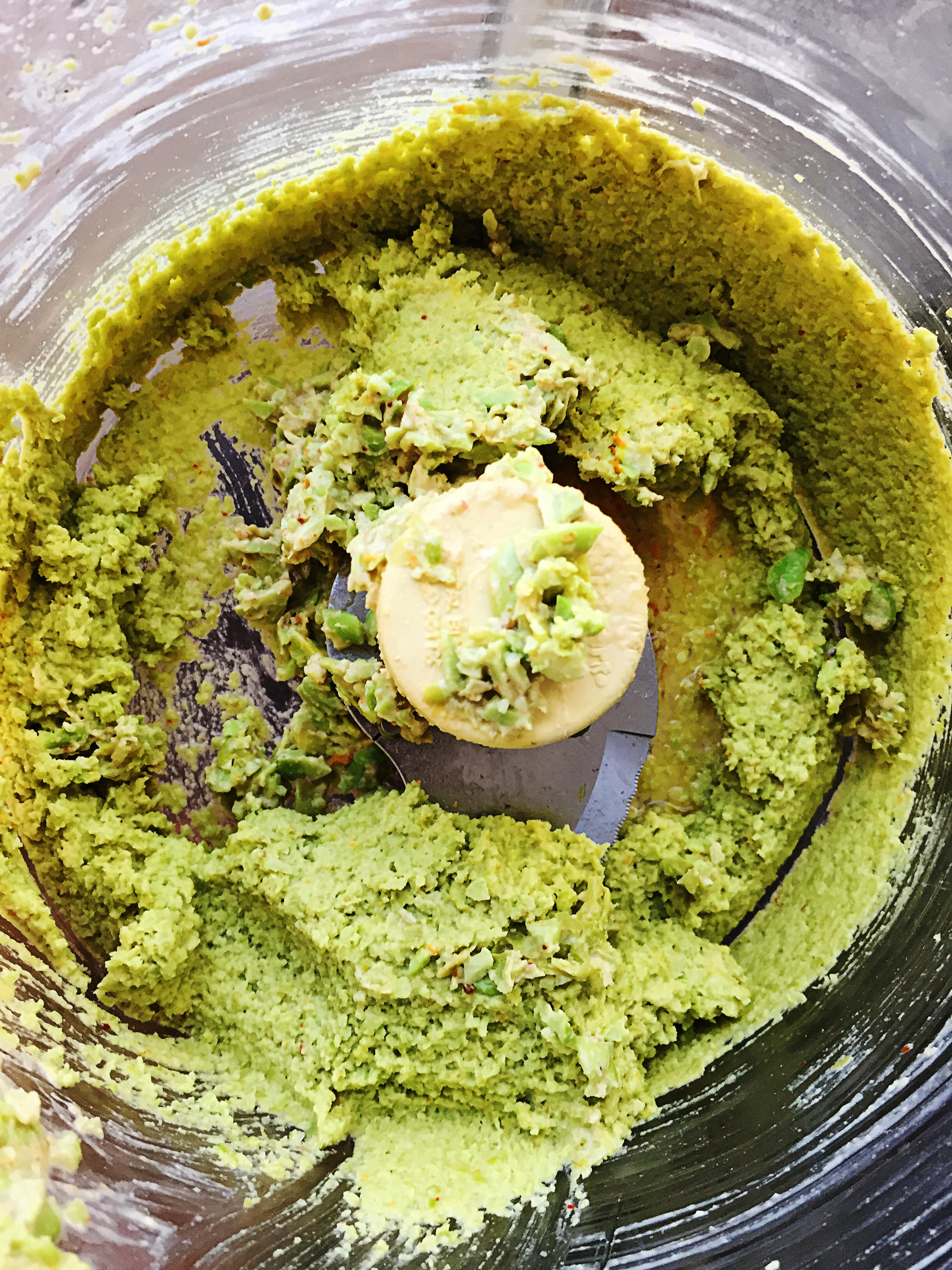 4. At the end of blending, you should have nearly ice cream consistency hummus. Yum.