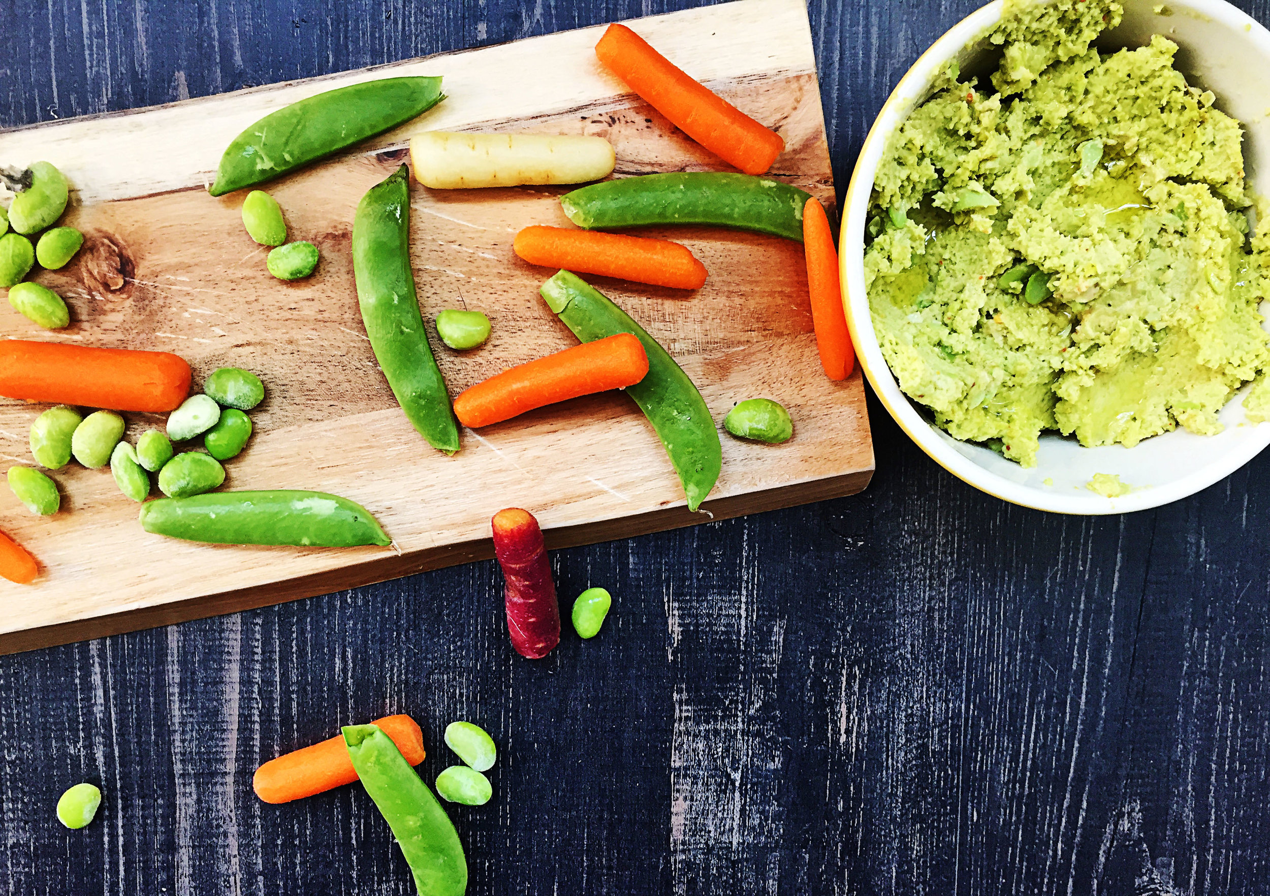 5. Serve with your favorite crudite: carrots, snap peas, broccoli, cauliflower, pita breads, etc. ENJOY!