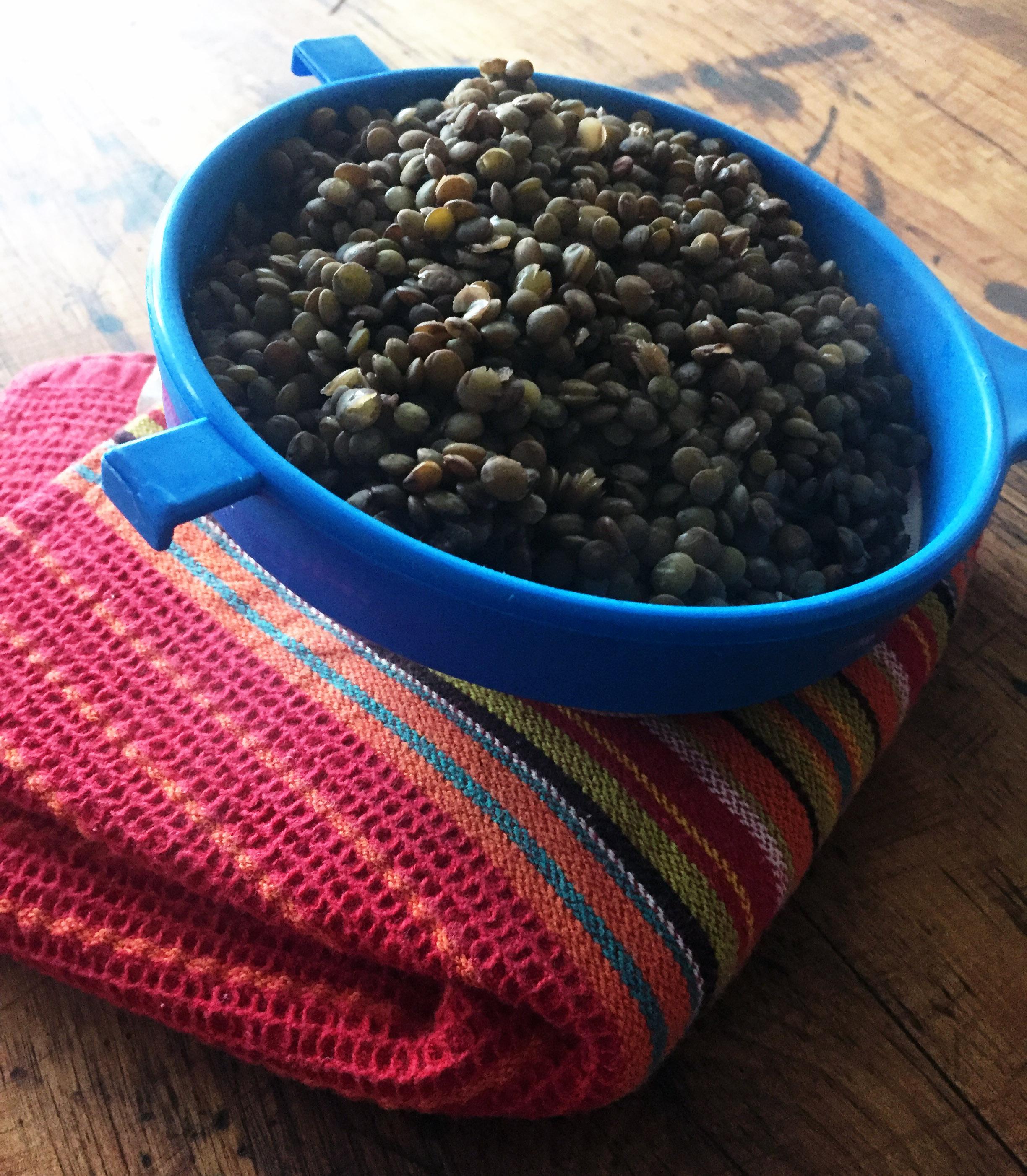 5. Drain lentils and set aside.
