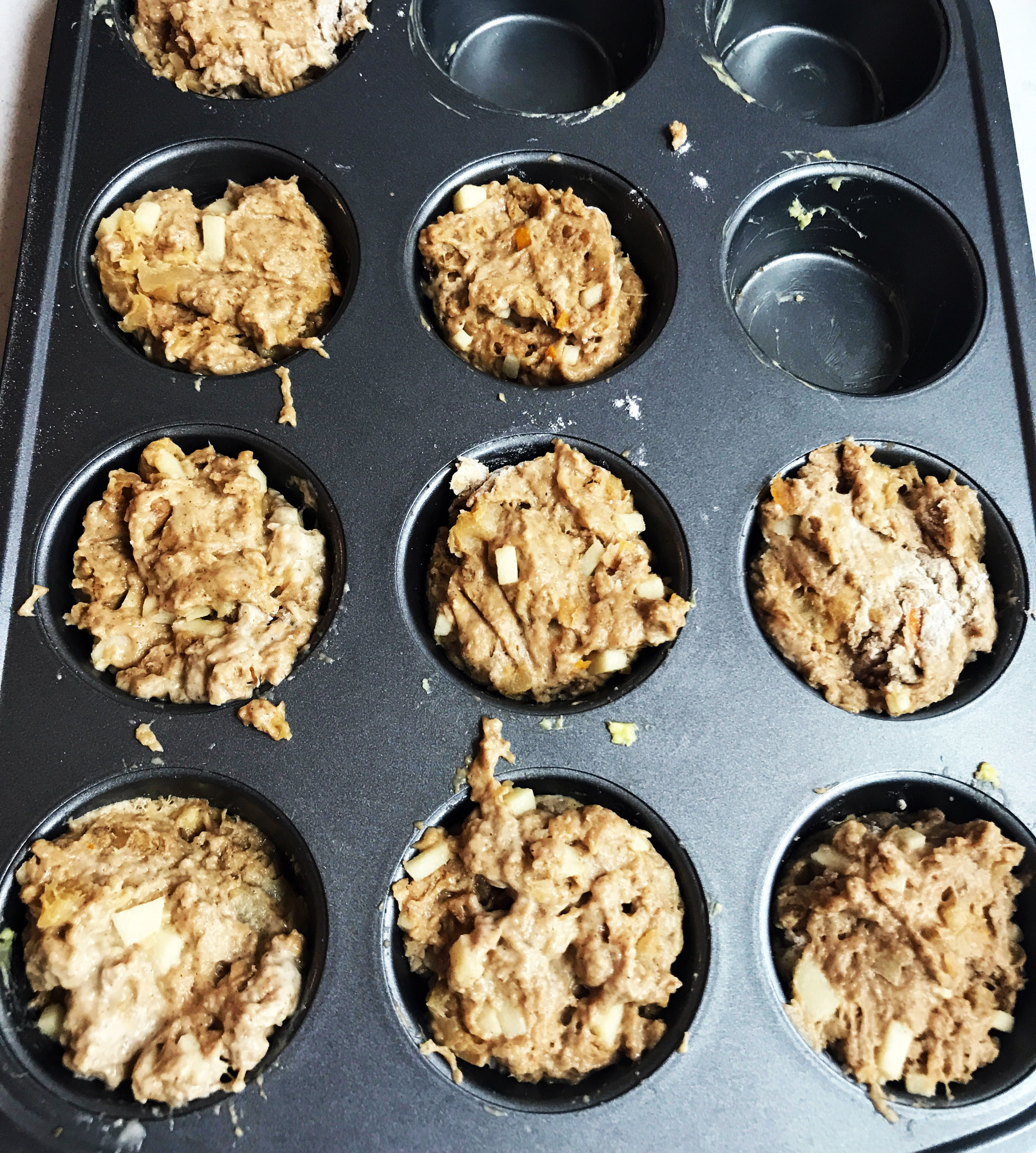 5. Place the muffins in the oven for 15 minutes. Scoop out and enjoy!