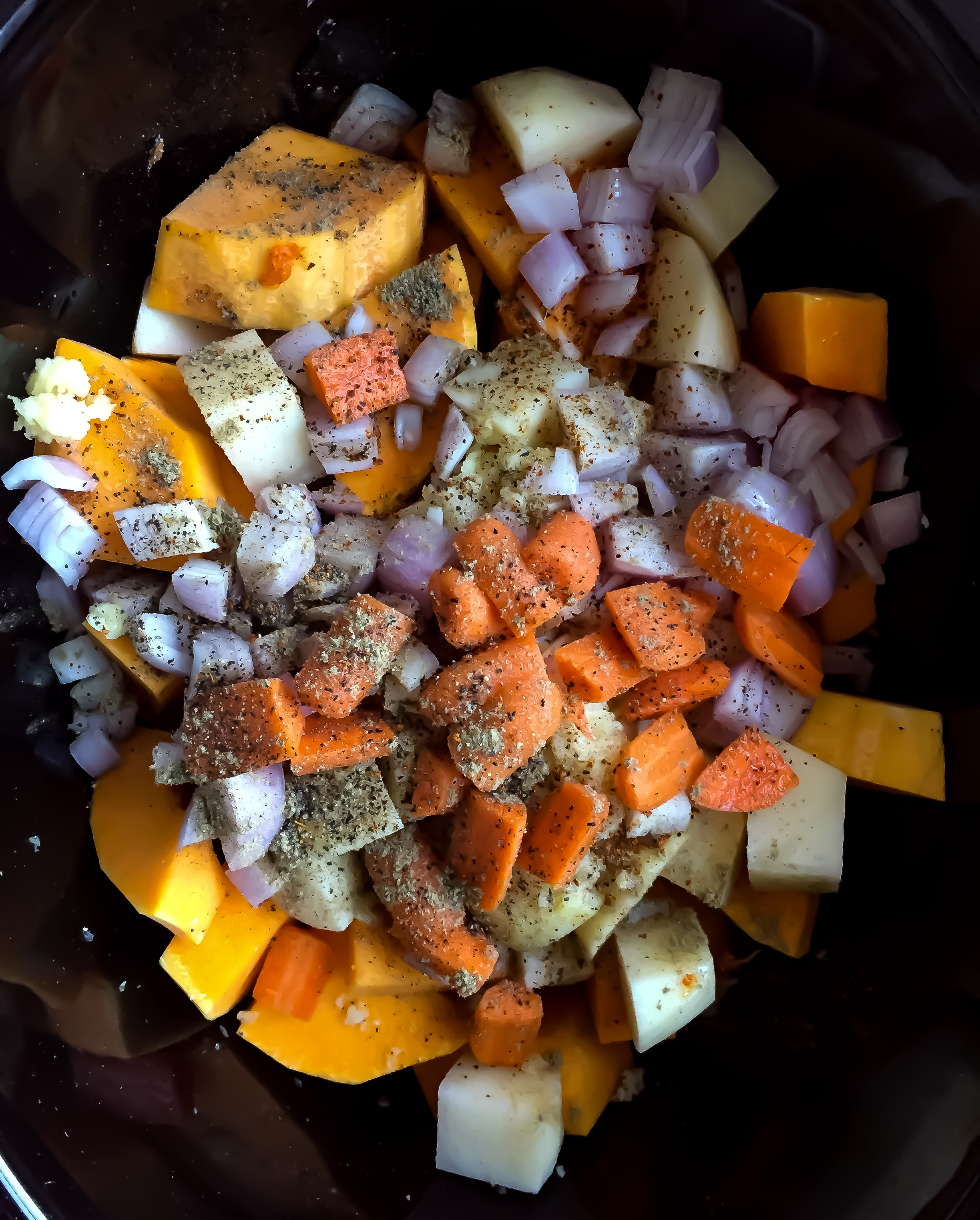 1. Place all the ingredients inside of a slow cooker. Turn on for 8 hours on low.