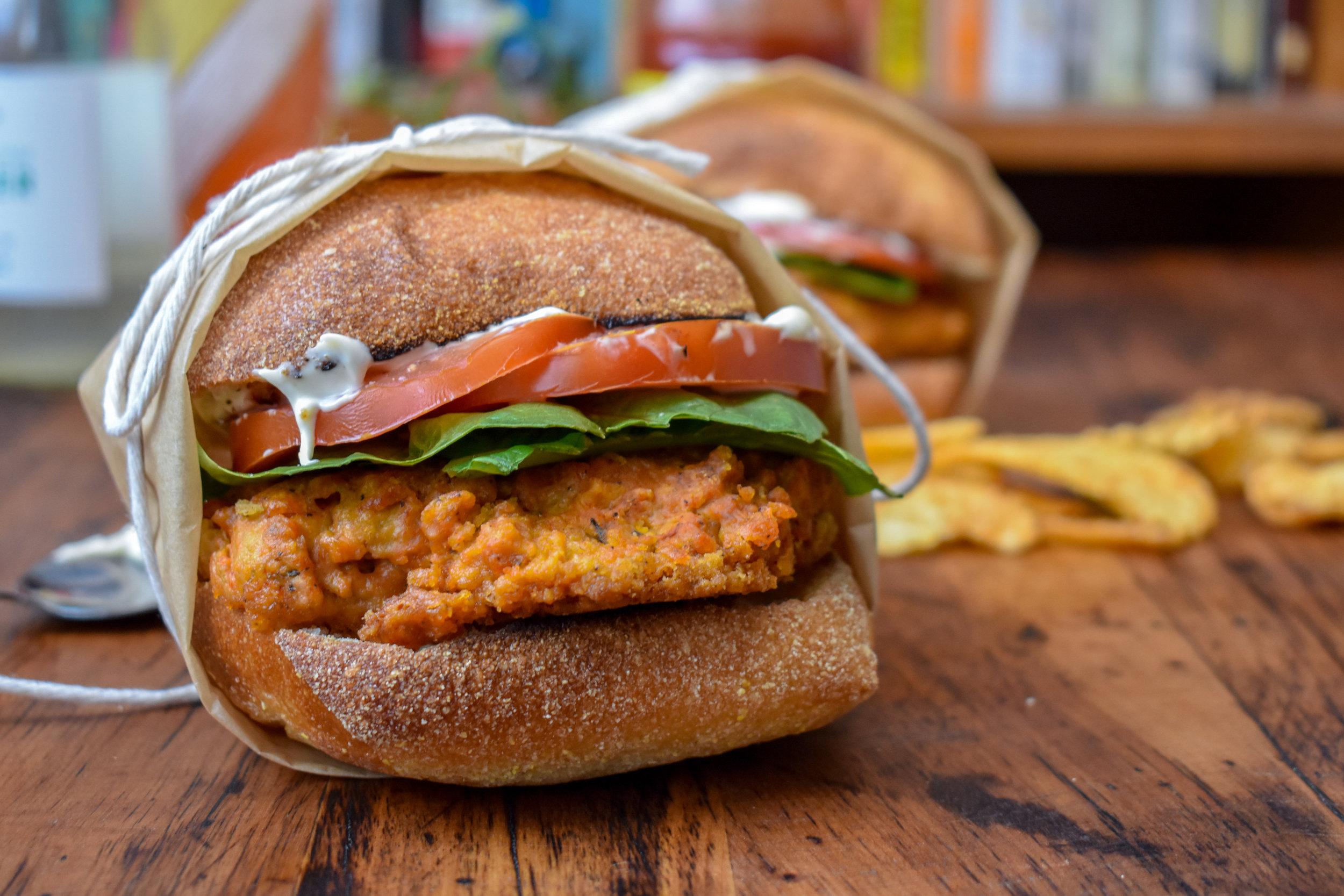 Vegan Wendy's Mock Spicy Chicken