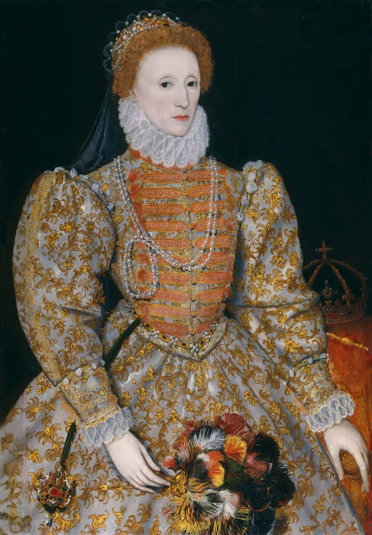 Queen Elizabeth I by Unknown continental artist, circa 1575. Photograph: National Portrait Gallery London