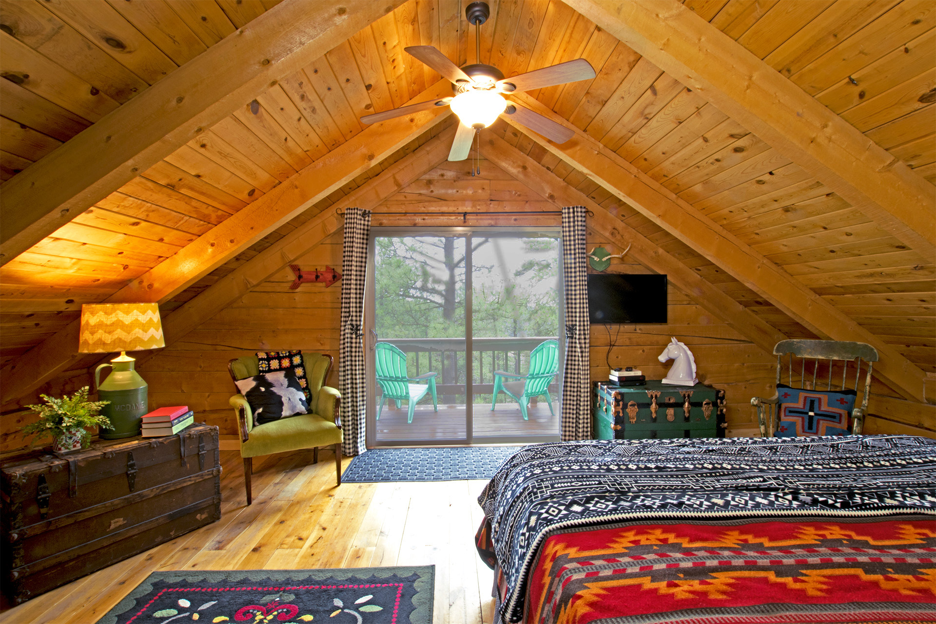 Alpine Upstairs King Bedroom with Balcony.jpg