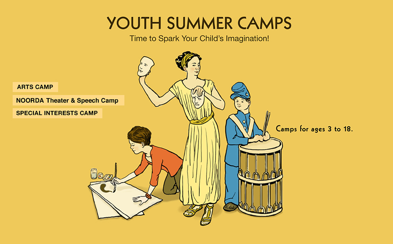 Splash Image for Youth Summer Camps Site, UVU Community & Continuing Education