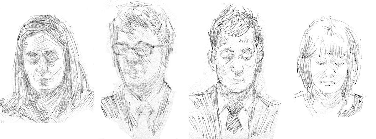 Church Sketches, Ballpoint Pen