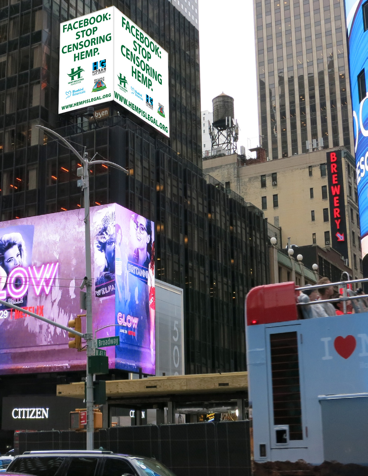 "Hemp Industries Association® Launches ""Hemp Is Legal"" Campaign in Times Square (5/19)"