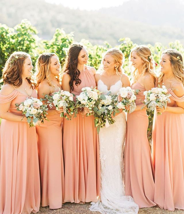 Our bride chose this beautiful palette for her end of summer wedding and against the natural setting of the vines, it really couldn't be more perfect.  Event Design and Floral: @riondesigns @carolyn_k5 @lygiamatias  Planning and Coordination: @lindsaylaurenevents  Photography: @tylardelegeanephoto  #napawedding #winerywedding #napavalley #visitnapavalley #charleskrugwinery #eventdesign #weddingdesign #weddingfloral