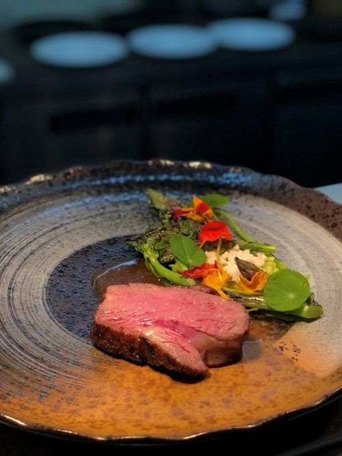 Lamb rump from Pescatore, The George, Christchurch