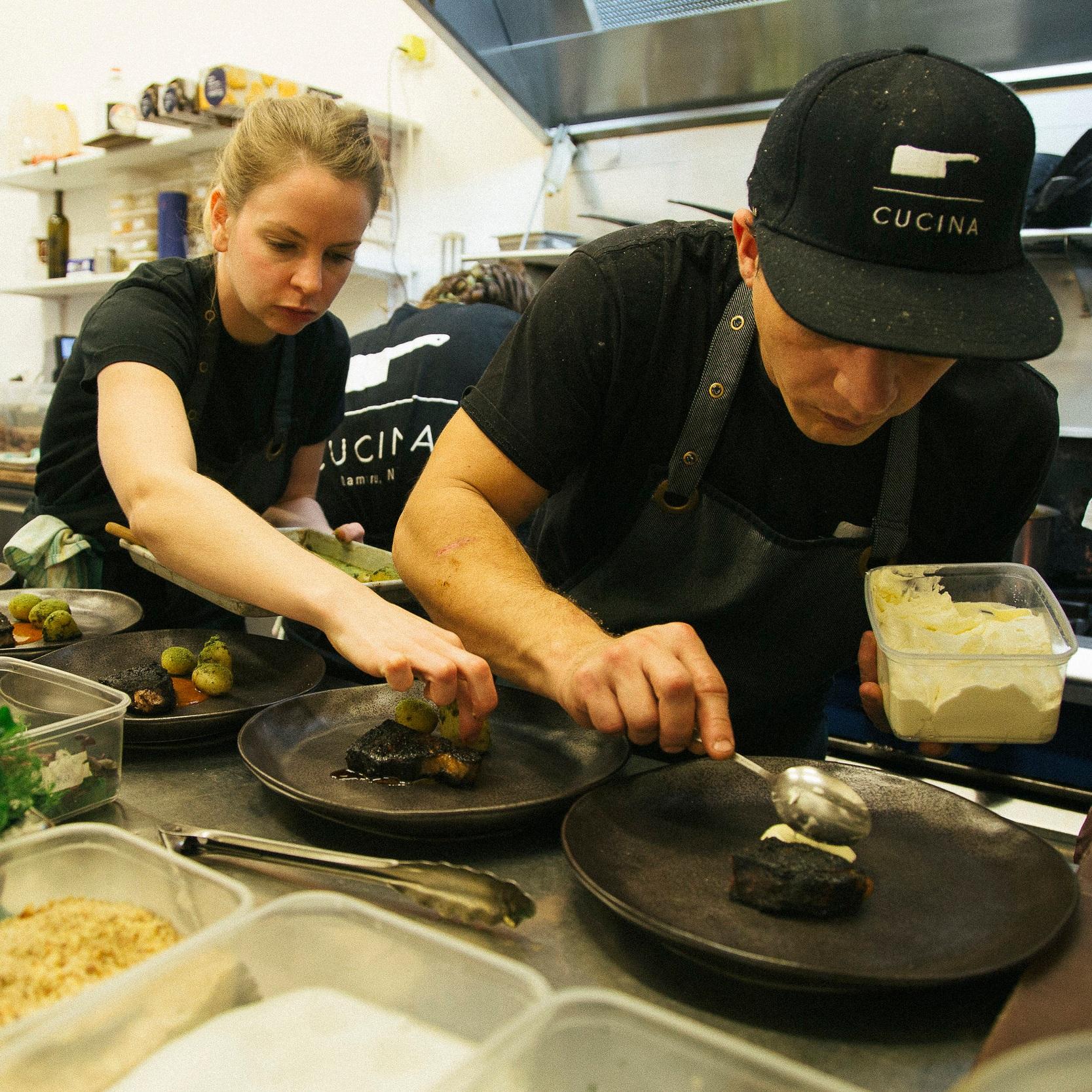 Kitchen action at Cucina