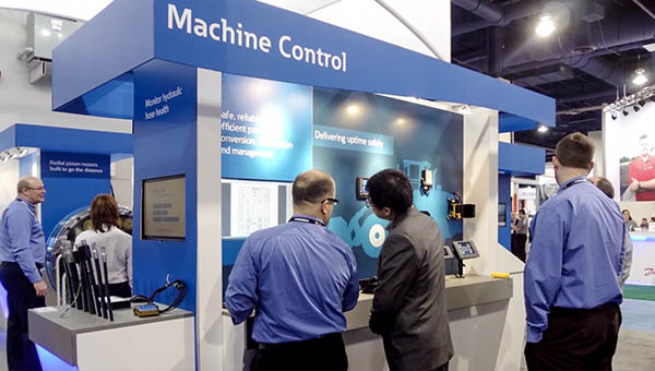 Eaton booth in Las Vegas show