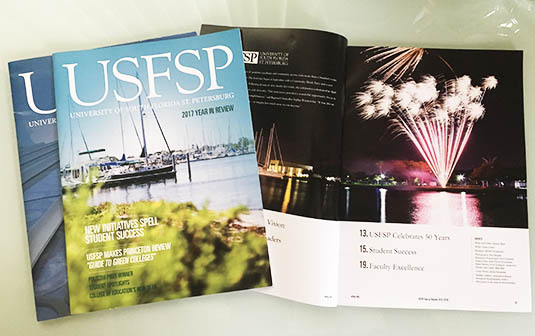 USFSP magazines and year in review