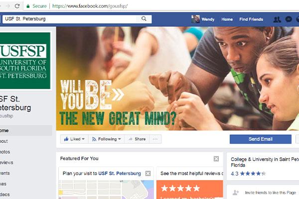 Facebook and social media branding for university
