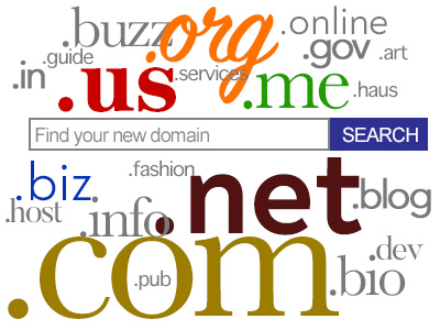 domain name extensions such as .us, .com, .biz, .host, .info