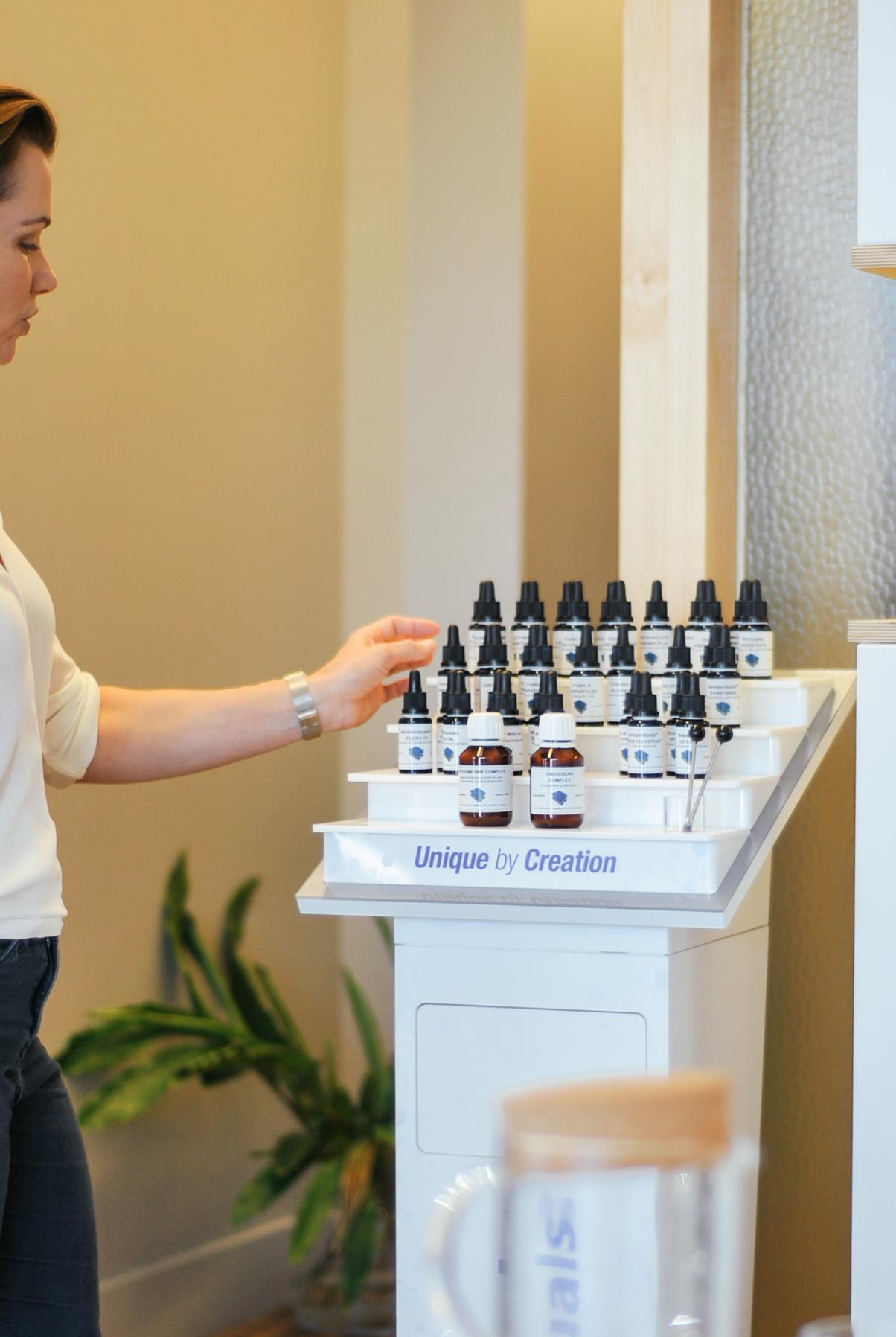 Our dermaviduals blending bar means we can create skincare unique for your skin's needs.