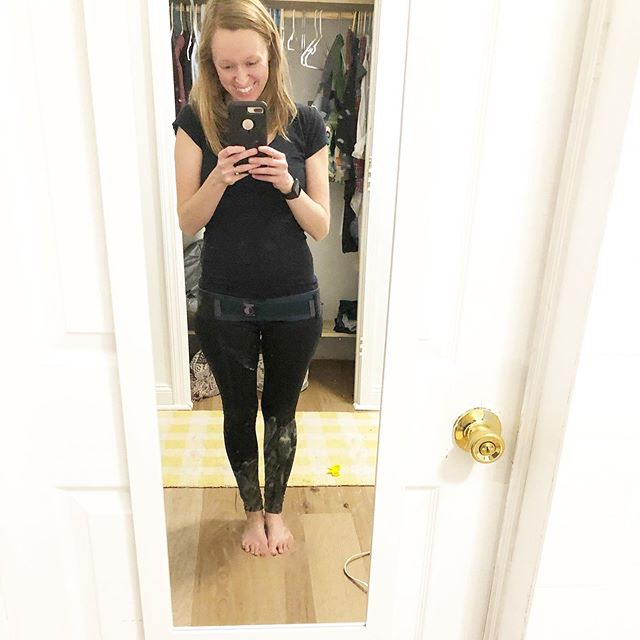 Yes, my mirror is dirty. I have toddlers. 🙄😂 Just look past our imperfection and lack of a closet door and folded laundry...👇 My Serola belt came in the mail today!!! If only I knew this existed when I was pregnant with Gus. 🙌 And postpartum. And well, for as long as my pelvis has been hypermobile.  My chiropractor told me to get a trochanter belt when I was postpartum with Gus, but I couldn't afford it on top of the lumbar braces I'd bought. I SHOULD HAVE LISTENED THOUGH and gotten a belt instead. 😱 Because this is AMAZING! 🙌😍 Now, all you people who messaged me with curiosity about this belt that I'd ordered—I've been wearing it about an hour and I can honestly say I am in LOVE. My SI joints and pelvic nerves and low back and bladder are all signing its praises! Worth every single penny. 🙌  Now I wonder if I'm allowed to wear this 24/7?? 🤔🙈 I never want to take it off again.