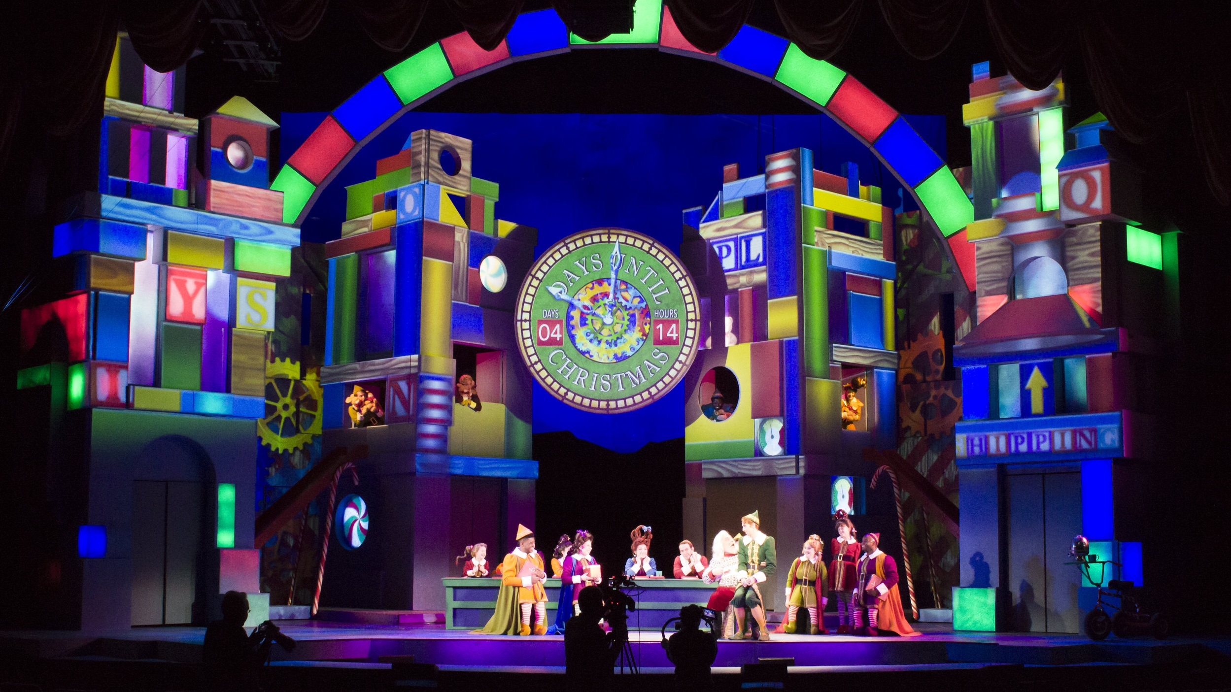 Elf The Musical - projections