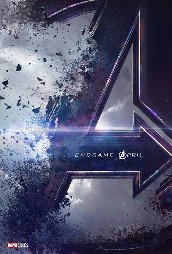 This poster is from the newest Avengers movie, Endgame (which btw, great movie!) The blue hues and crumbling grunge-like effects represent that this movie is a thriller.