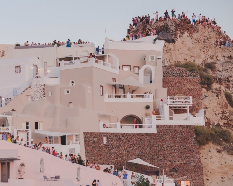 The Oia Sunset Crowd